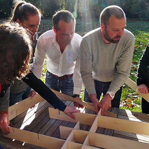 training teambuilding met reflectie